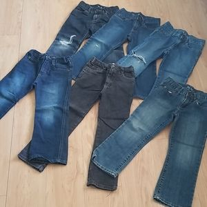 6 pairs of Boys size 6 jeans